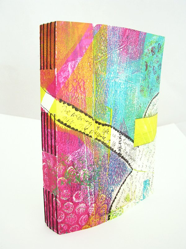 Longstitch gelatin print journal