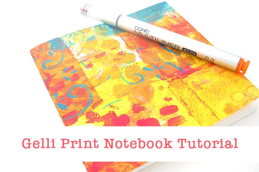 Gelli Print Notebook Tutorial