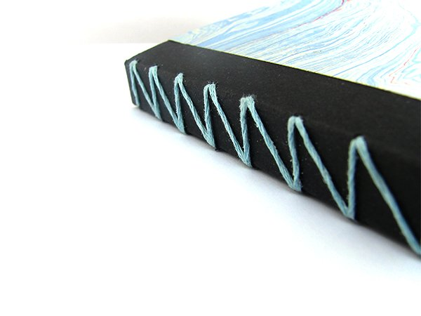 Marble Notebook with Z Stitch