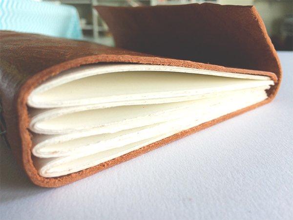 Cross Stitch Leather Journal