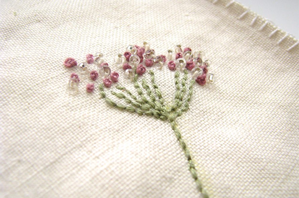 Vintage fabric book with embroidery