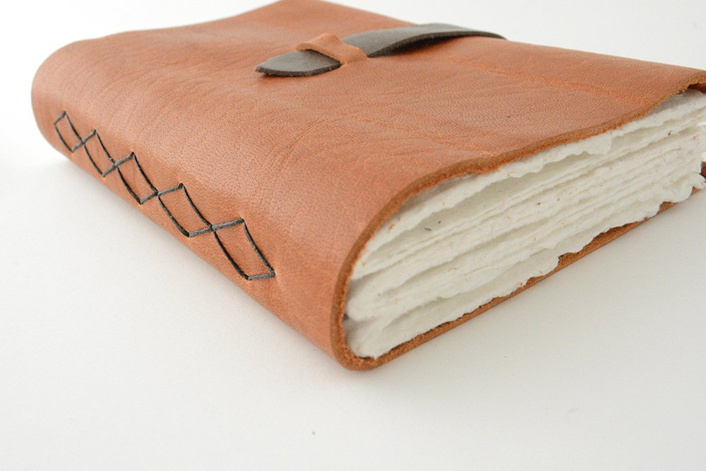 Leather Journal with handmade paper