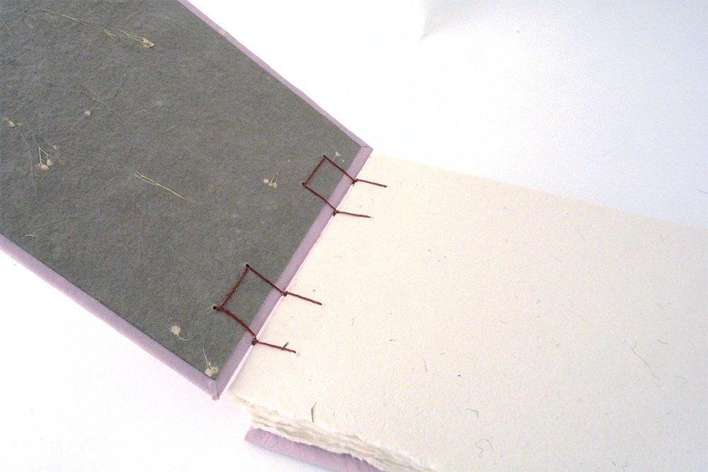 single sheet coptic binding