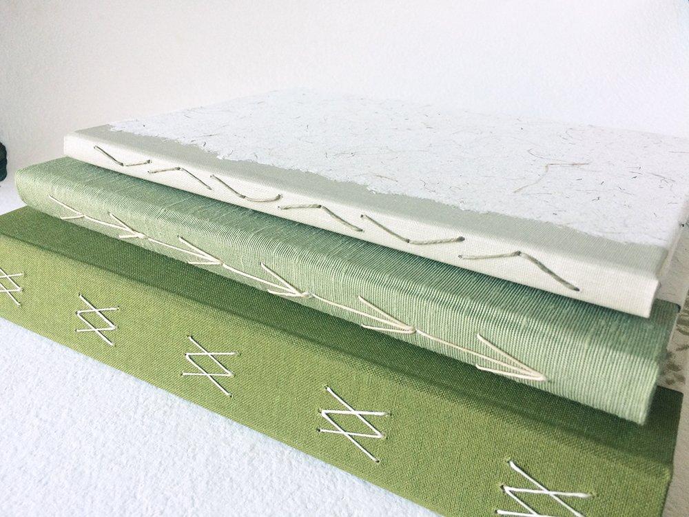 Stack of 3 Handmade Books