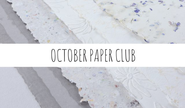 October Handmade Paper Club | Vintage Page Designs