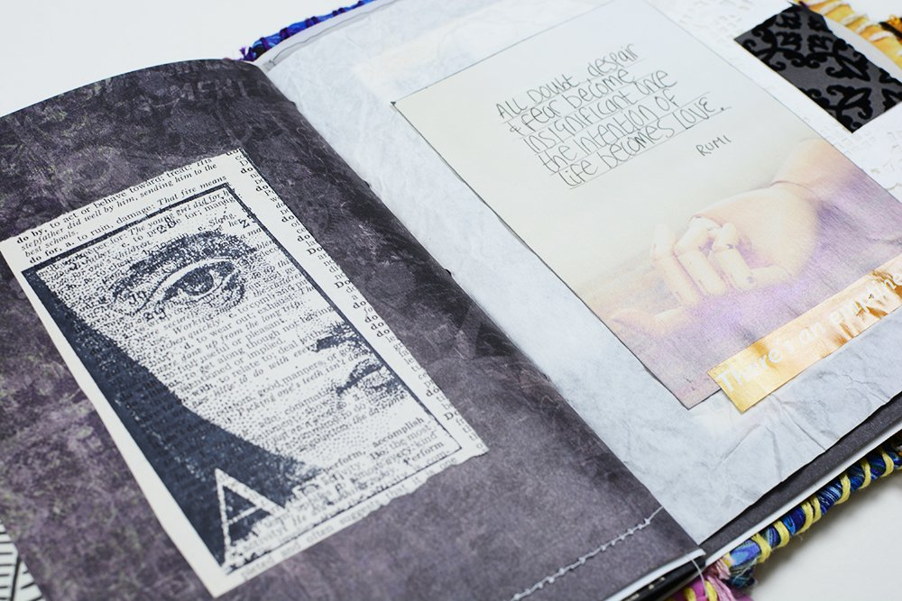 Black and White Junk Journal | Vintage Page Designs