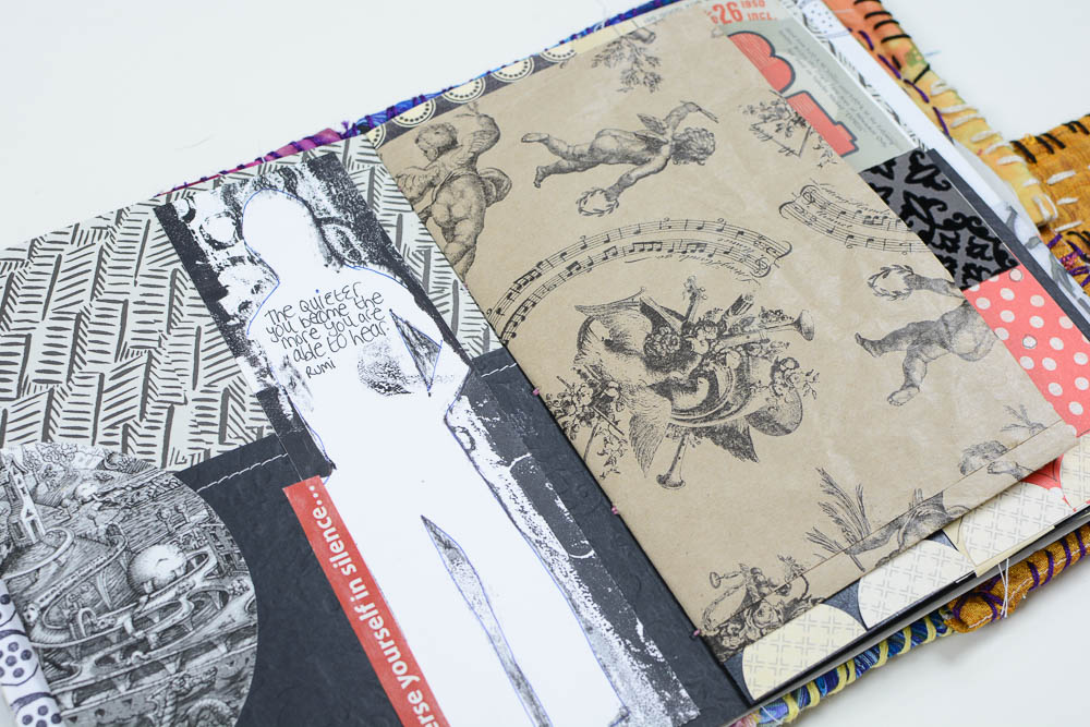 Vintage Page Designs Black and White Journal Page-2