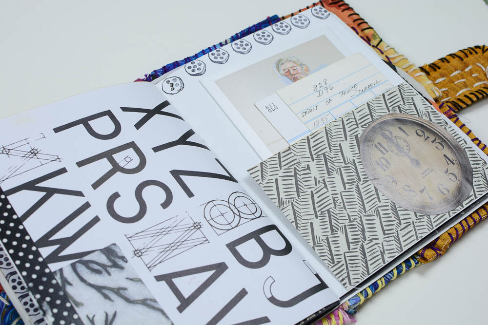 Vintage Page Designs Black and White Journal Page-6