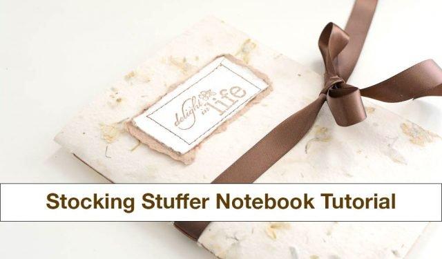 DIY Stocking Stuffer Notebook Tutorial | Vintage Page Designs