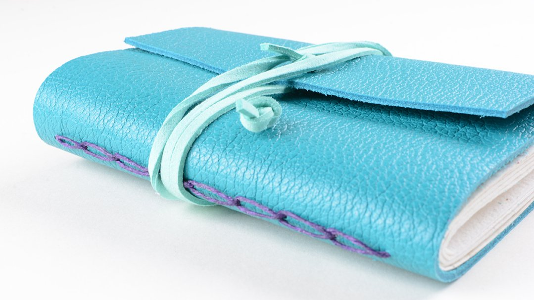 Blue leather book