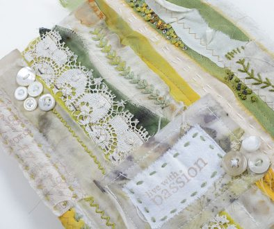 Fabric Covered Altered Book Ali Manning