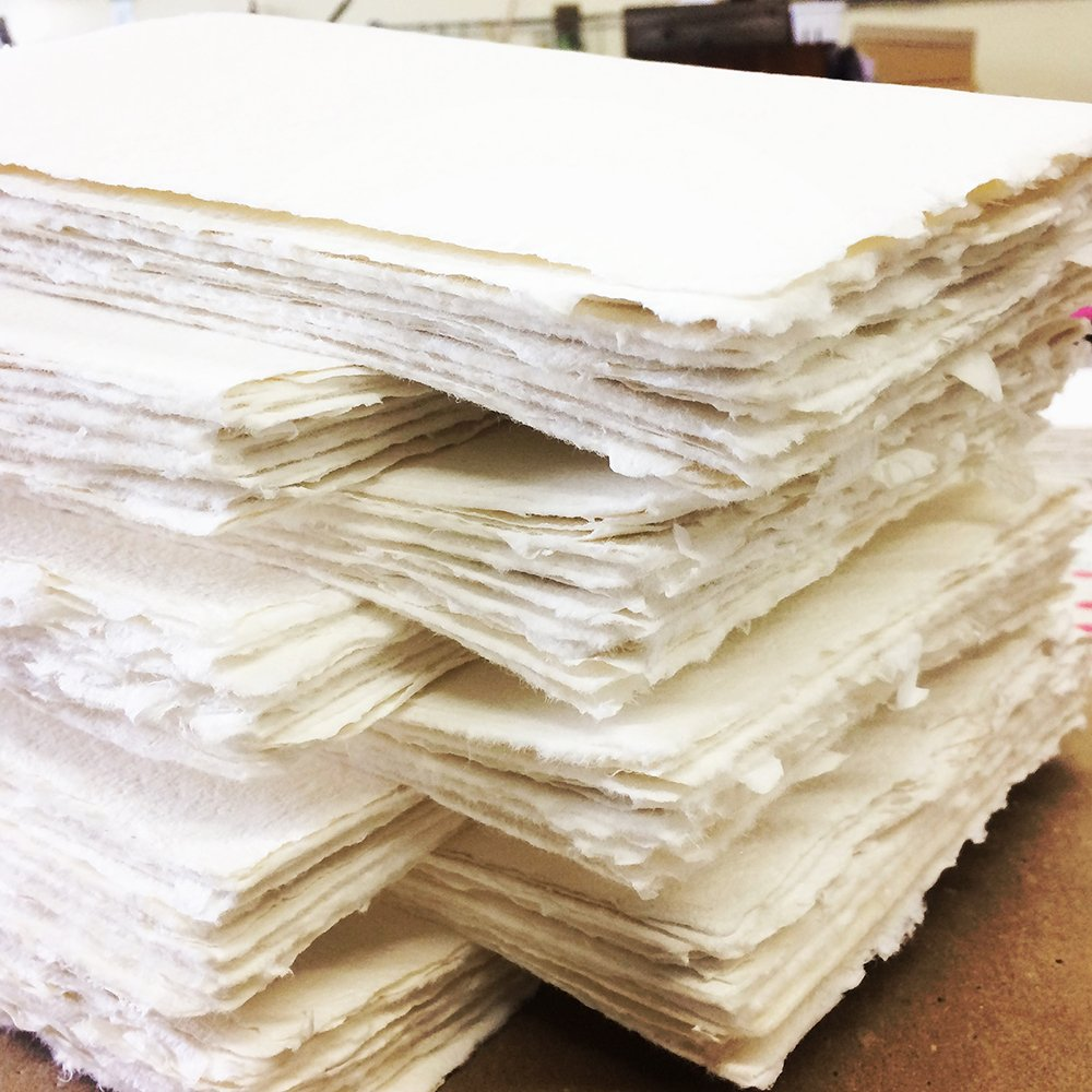 White handmade paper