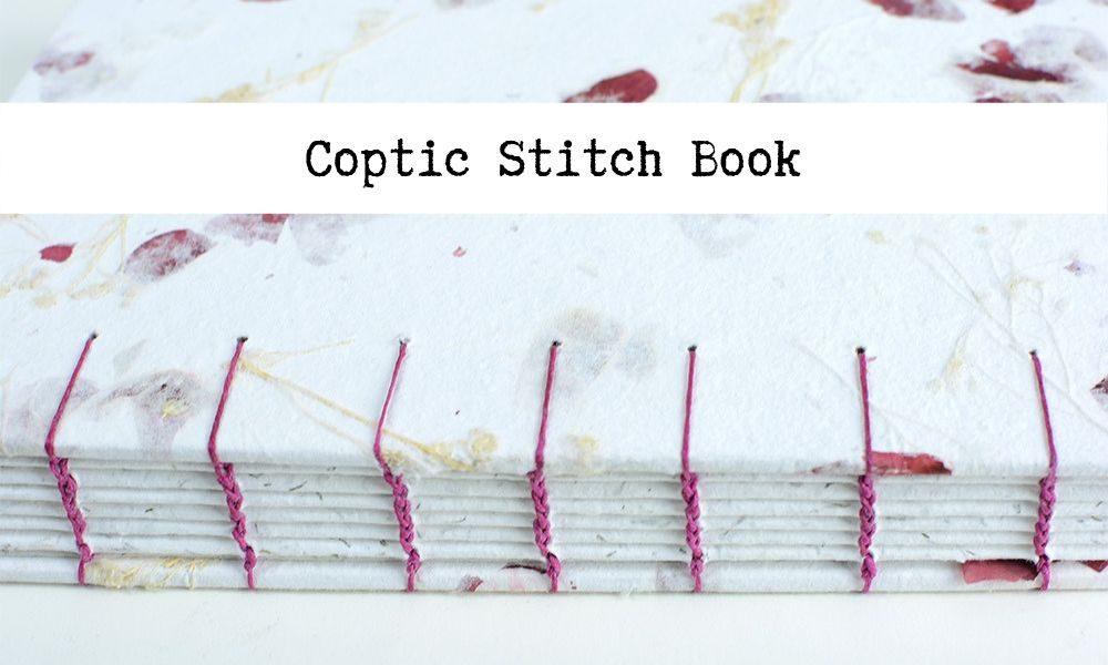 Coptic Stitch Book | Vintage Page Designs