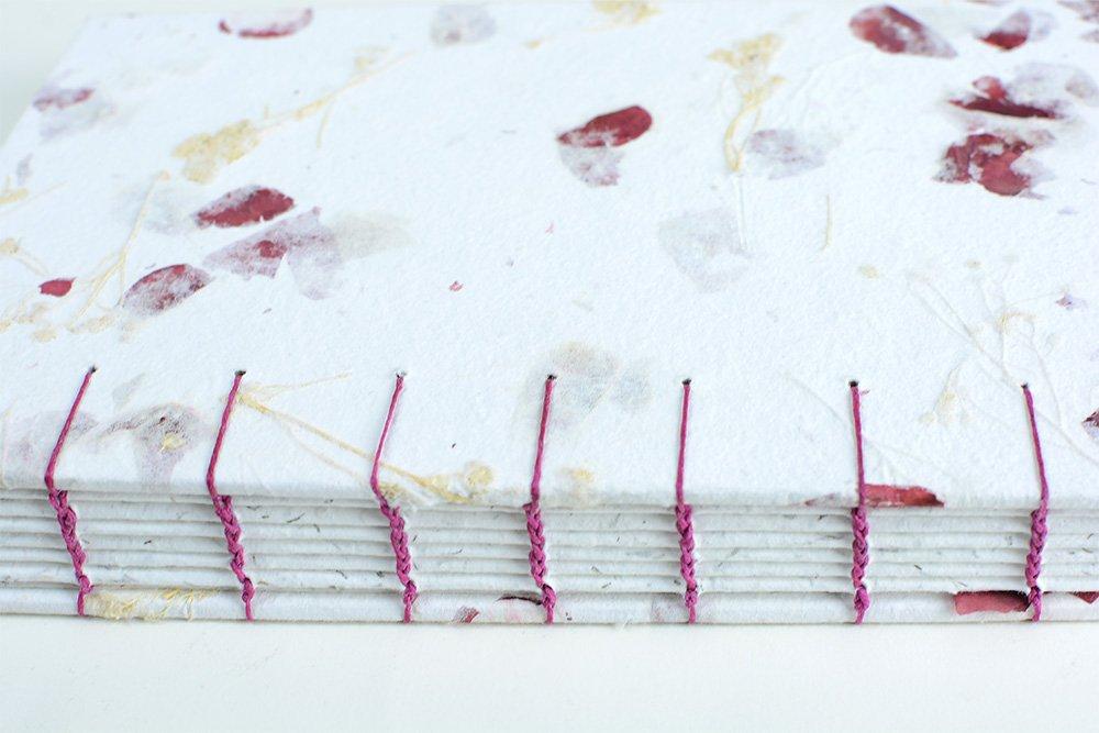 Coptic Stitch Book Rose Paper | Vintage Page Designs