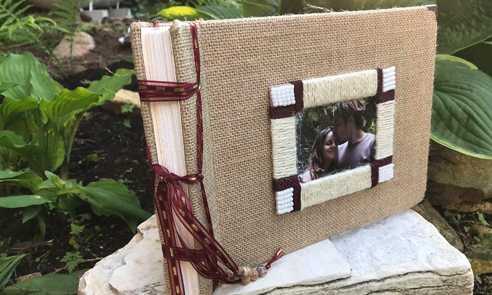 Rustic Wedding Album with Account Book Binding