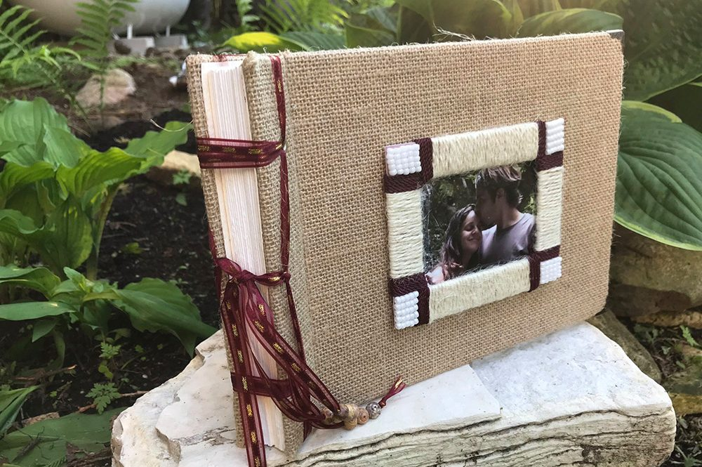 Rustic Wedding Album with Account Book Binding