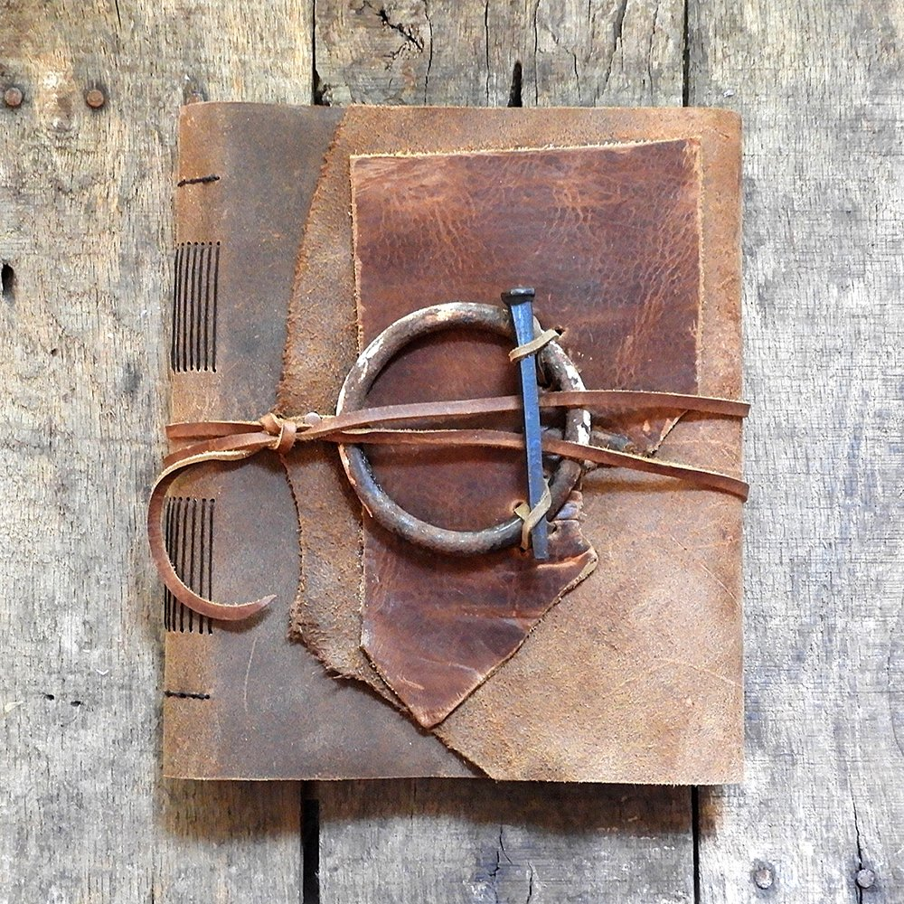 Leather Journal by Lana Stuart | Vintage Page Designs