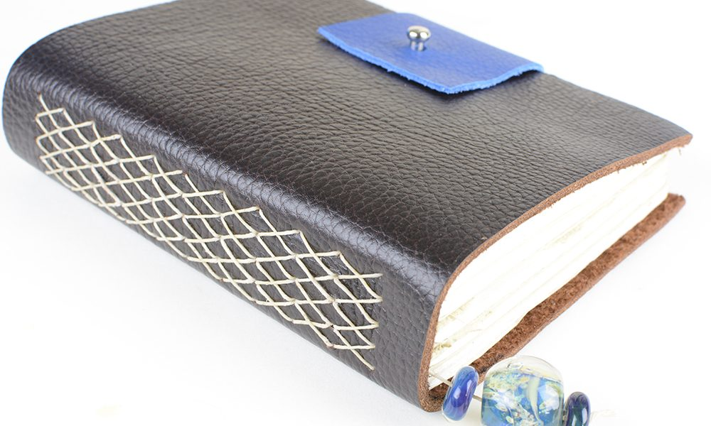 Brown Leather Journal Vintage Page Designs