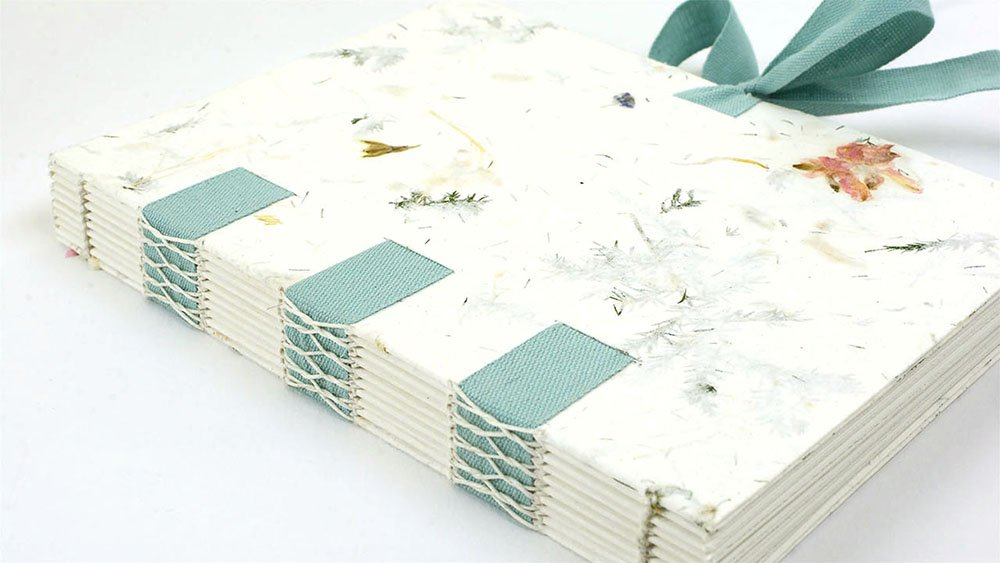 Handmade Book with Cotton Ribbon