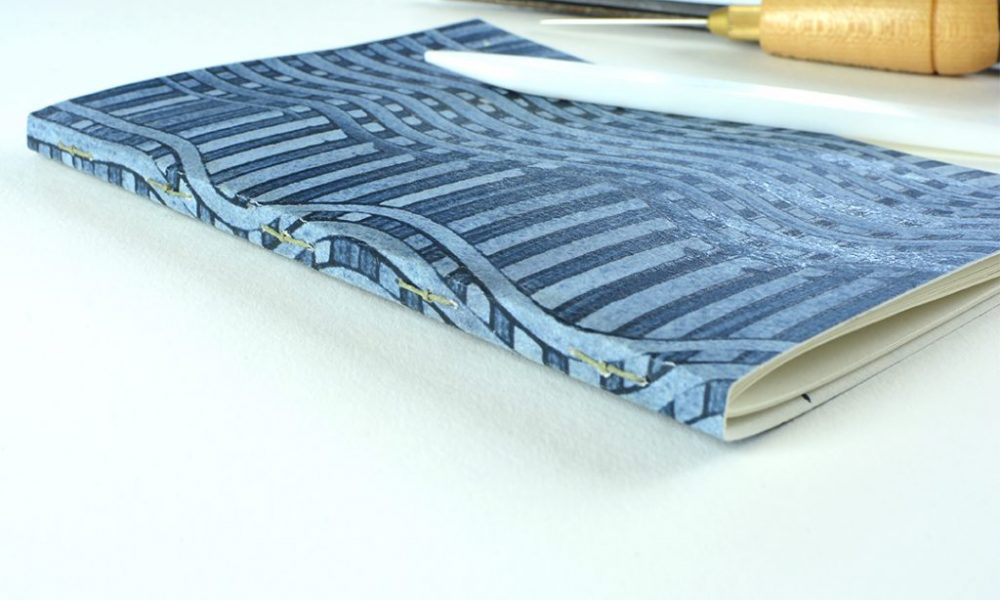 Blue Paste paper Journal