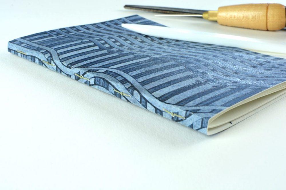Blue Paste paper Journal