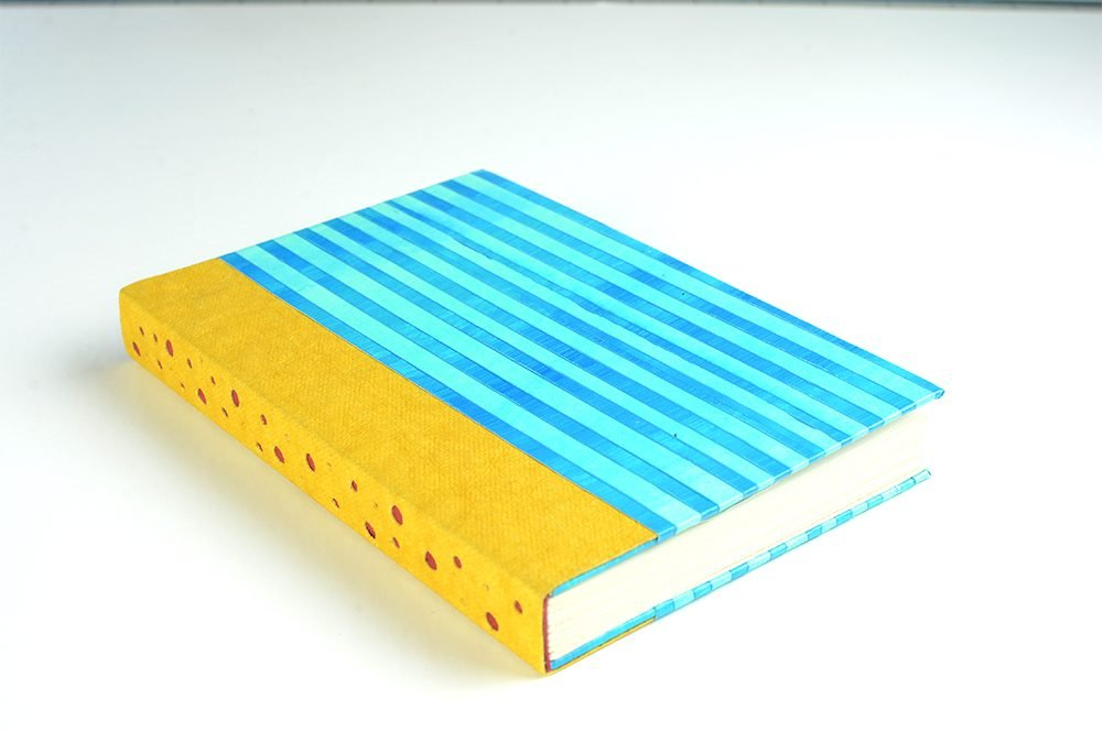 Handmade Book with Paste paper