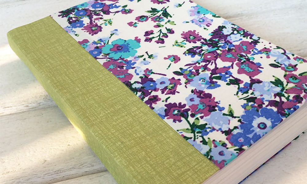 Handmade book with diy book cloth