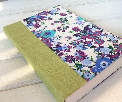 Handmade book with diy book cloth